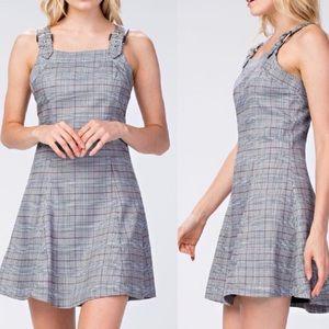 NWT Honey Punch Plaid Apron Tank Dress
